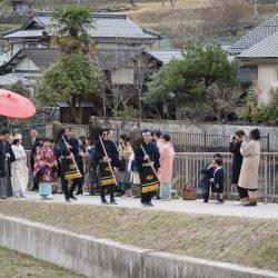 福知山市が資源生かし結婚式、大原神社を舞台に地域住民祝う