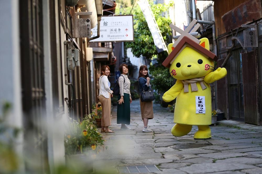 島根県の観光キャラクター「しまねっこ」がガイドツアー