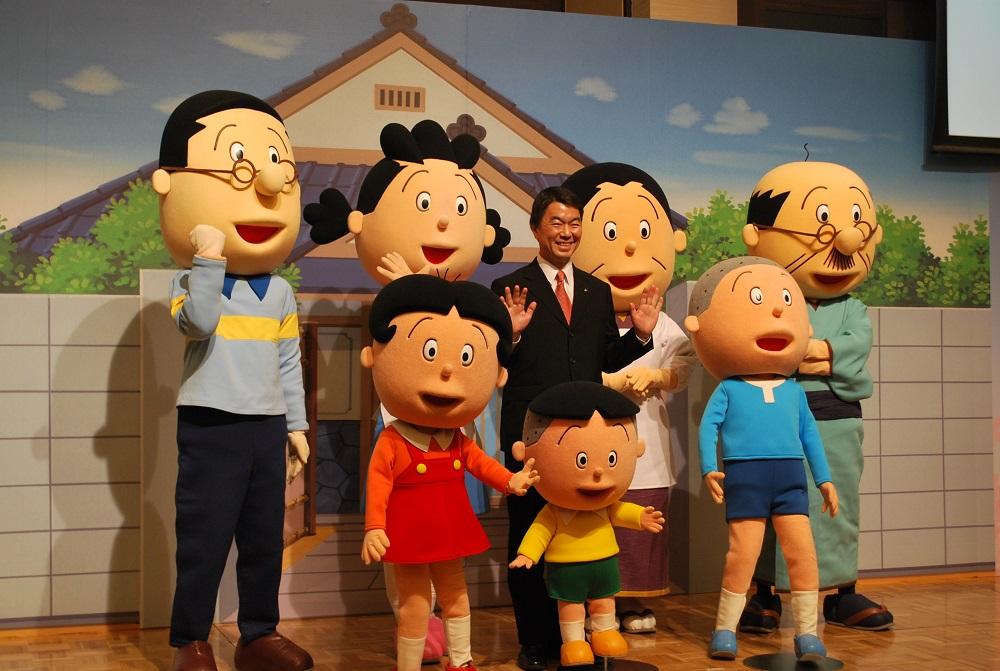 宮城県がキャンペーンキャラクターにサザエさん、ポスターなどに一家が登場