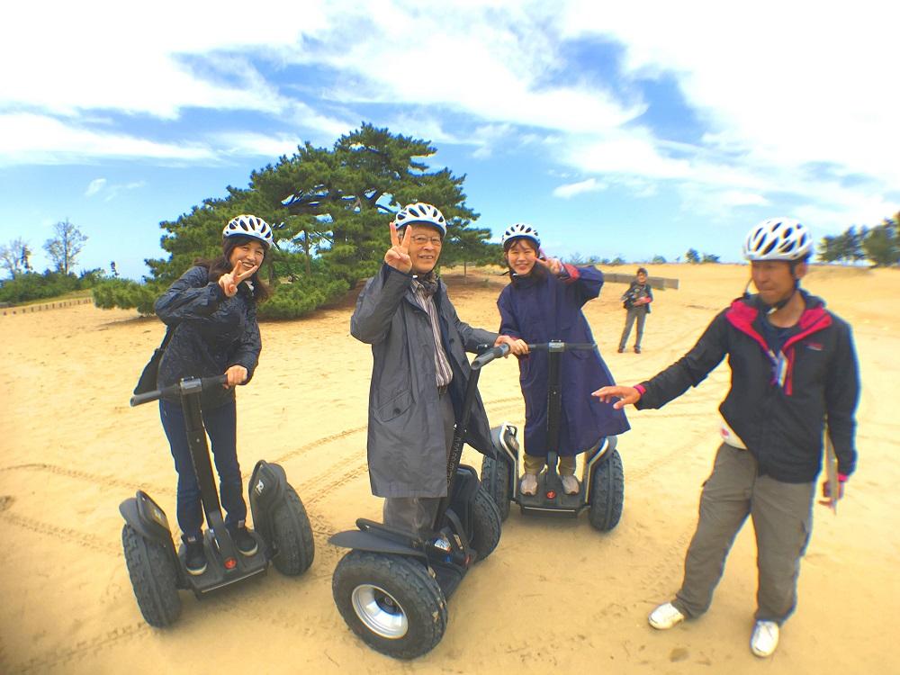 鳥取砂丘がセグウェイで訴求、絶景ポイントや海側エリアも