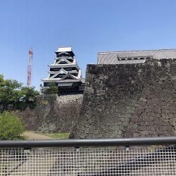熊本城、空中回廊を公開 復旧工事中ならではの光景