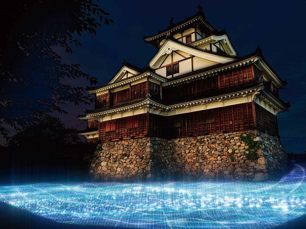 福知山の夜間観光充実へ、城全域でプロジェクションマッピング