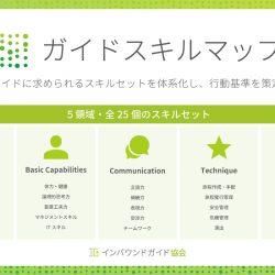 ガイドのスキルマップ発行、5つの評価基準で品質可視化