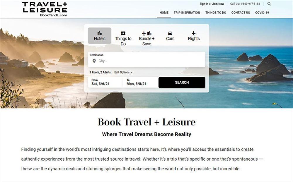 米旅行誌トラベル+レジャーが予約サイト、定額制旅行クラブも