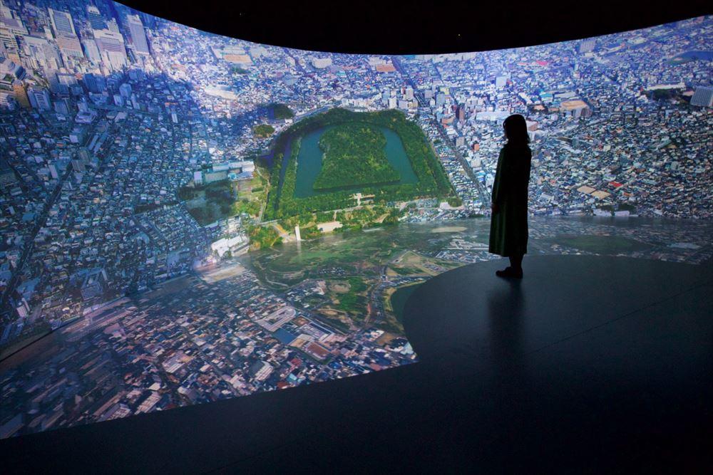 百舌鳥・古市古墳群にビジターセンター、8K映像で世界遺産体感