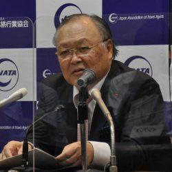 JATA菊間会長「難局乗り越える」 就任会見で所信表明